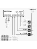 AKO-D14323 DİJİTAL TERMOSTAT ( 3 RÖLELİ )